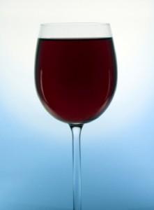 Wine Glass full of red wine