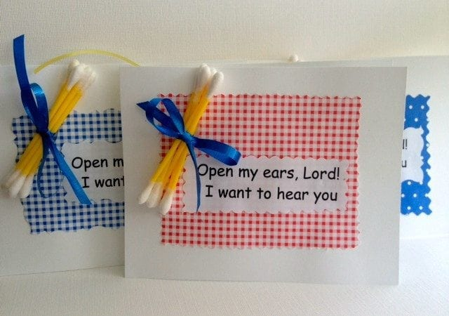 Open My Ears, Lord - I Want To Hear You! Handmade Palanca and Agape