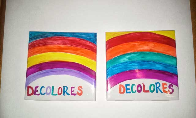 Rainbow Coaster Tile Palanca/Agape Idea