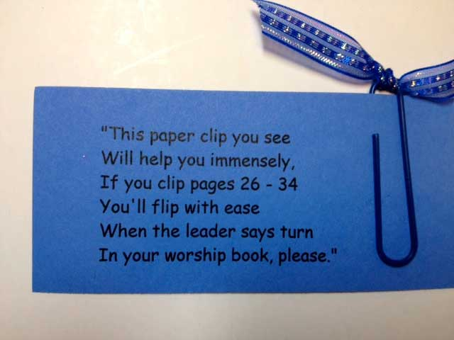 Blue Paperclip-Book-Mark