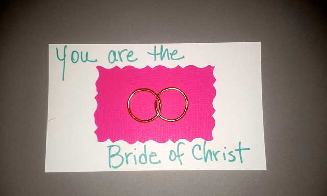 Wedding Ring Bride of Christ
