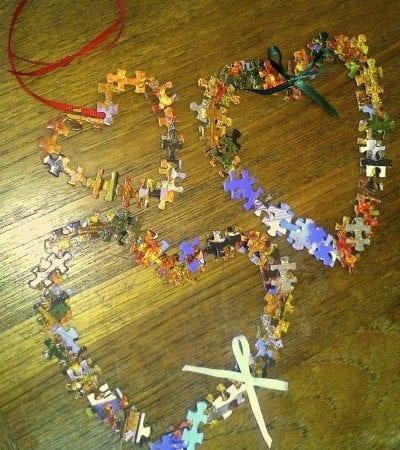 Puzzle Piece Hearts